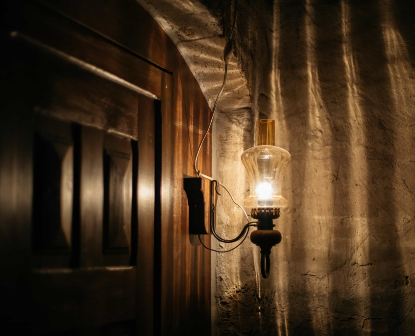 Escape room kamer lamp